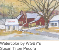 watercolor: Clark Fruit Farm